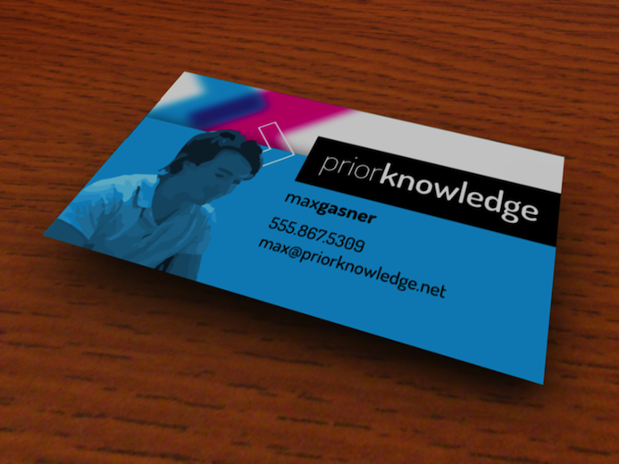 Adam grant business card with 3d model colourmoves